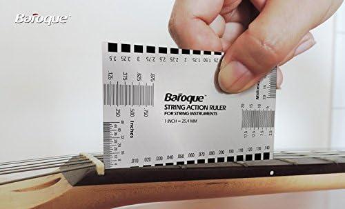 Baroque ストリングアクションルーラー  ナット調整 計測例