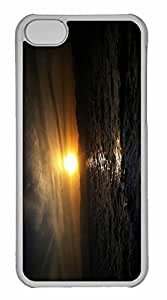 iPhone 5C Case, Personalized Custom Sunset 21 for iPhone 5C PC Clear Case