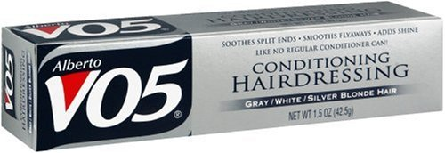 Alberto VO5 Conditioning Hairdressing for Gray/White/Silver Blonde Hair, 1.5 oz (42.5 - Cream Hairdressing