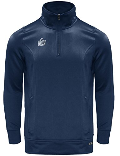 Admiral Athletico Men's 1/4-Zip Pullover Soccer Warm-Up Jacket, Navy, Adult Large