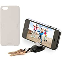Tiltpod Keychain stand and case for iPhone 5, mini pivoting tripod - white