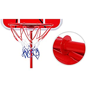 Basketball Hoop,Yamally_9R Kids Adjustable Plastic Basketball Hoop Board Set with Indoor Hanging Hoops Indoor Outdoor Game (A)