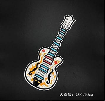 Parche – Guitarra Bordado Paño Pegatinas Padre e Hijo Amantes ...