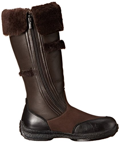 Pajar Womens Igloo Boot Nubuck Choco / Nappa Nero