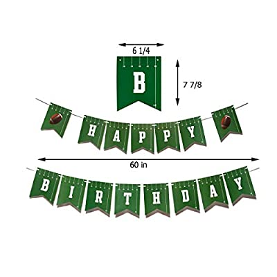 Football Party Decorations [81 Piece Set] | Football Party Supplies | Football Tablecloth | Football Gameday and Happy Birthday Banner | Football Pennants | Football Balloons | Hanging Swirls | Football Decorations: Toys & Ga