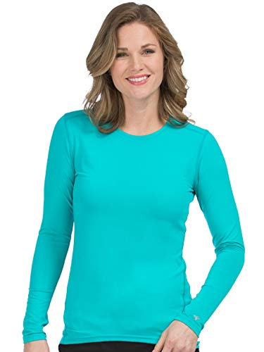 Med Couture Activate Women's Performance Knit Scrub Tee Aruba Blue S -
