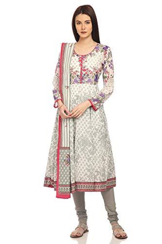 BIBA Light Green Anarkali Cotton Suit Set Size ()