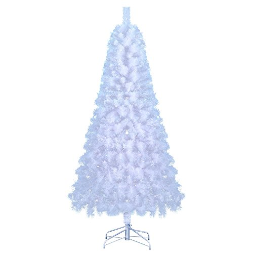 artificial christmas tree this 7 foot fake xmas glacier white pine compact frosted - White Fake Christmas Tree