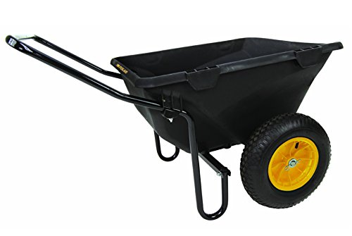 (Polar Trailer 8449 Heavy Duty Cub Cart, 50 x 28 x 29-Inch 400 Lbs Load Capacity 7 Cubic Feet Tub Rugged Wide-Track Tires Utility and Hauling Cart, Black)