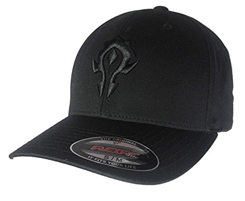 Blizzard Merchandise  World of Warcraft WOW Horde 3D Crest Flexfit Hat Black  Thread on a ecf2c39063ad