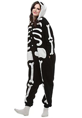 FIDDY898 Adult Unisex Skeleton Onesie Pajamas Sleepsuit XL