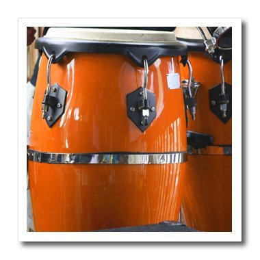 3dRose ht_156305_2 Orange Conga Drums-Iron On Heat Transfer, 6 by 6