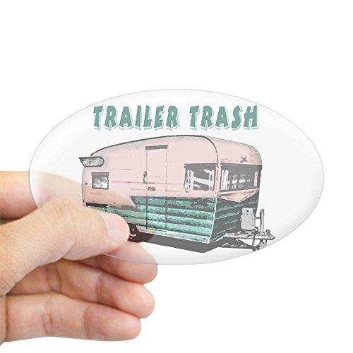CafePress Trailer Trash Oval Bumper Sticker, Euro Oval Car Decal
