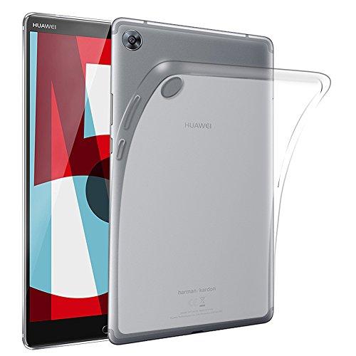 テープ印象的差し引くGosento MediaPad M5 8.4 ケース Huawei M5 8.4 クリスタル クリア Huawei MediaPad M5 8.4 TPU素材 保護カバー (半透明)