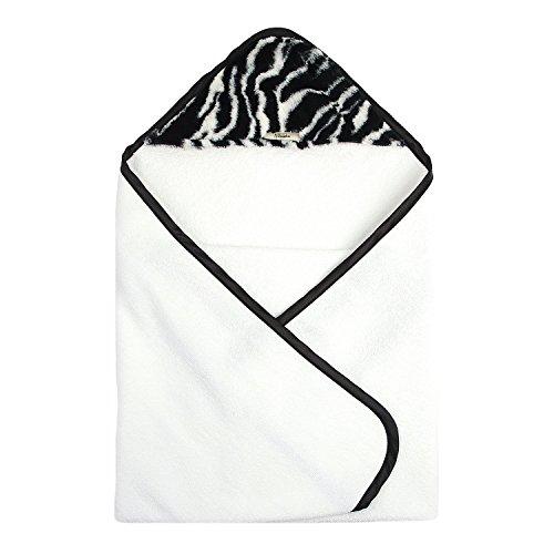 My Blankee Newborn Luxe Hooded Towel, (Luxe Zebra)