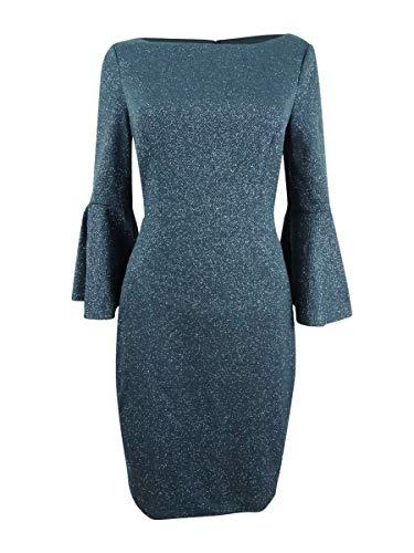Vince Camuto Women's Bell Sleeve Bateau Neck Sheath Dress Steel 6 ()