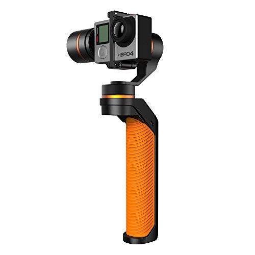 WINGSLAND 3-Axis Handheld Gimbal Stabilizer for GoPro,Extra Batteries,Orange by Wingsland