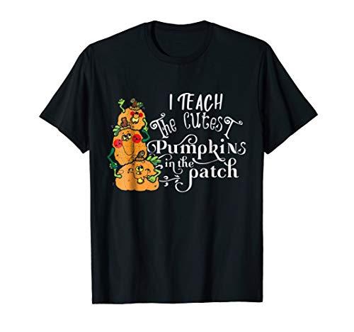 Teachers Halloween Cutest Pumpkin Shirt Cute Costume