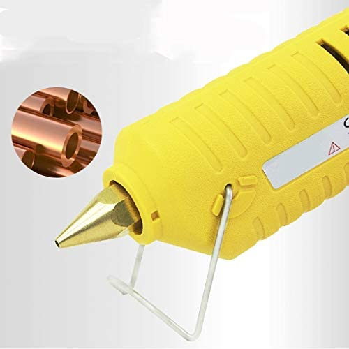 Minmin 黄色20本の30透明スティックのり、キット、芸術、工芸、修復と子供と大人のための装飾を持つホットメルトグルーガン、100W温度ガン、 ミニ (Color : B)