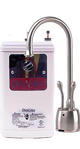 Waste King Madera D721-U-SN Hot Cold Water Dispenser Faucet and Tank - Satin NIckel