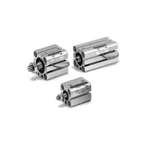 Cylinder 20x6mm - SMC CDQSB12-20D  Air Cylinder with Guide Rod Plate, Compact, Double Acting, Through Hole Mounting, Switch Ready, No Cushion, 12 mm Bore OD, 20 mm Stroke, 6 mm Rod OD, M5 x 0.8