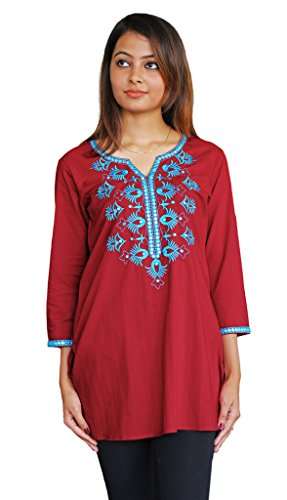 Ayurvastram-Embroidered-Block-Printed-or-Solid-Pure-Cotton-Tunic-Top-Kurti-Shirt-Blouse