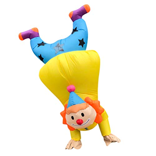 Halloween Adult Inflatable Costume for Men or Women Funny Clown Costume Cosplay