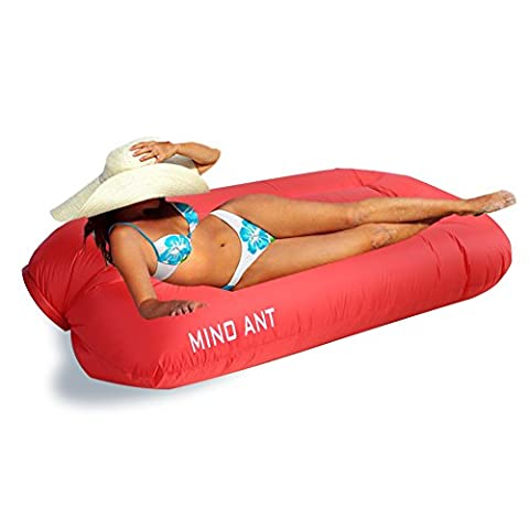 MINO ANT Inflatable lounger Sofa bags,Hangout Bean Bag, Sleeping Lazy Sofa,Nylon Waterproof Compression Sacks For Outdoor Camping Beach (Backyard Beans)