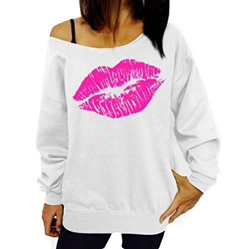 Honghu Longue Manche Sweater Pullover Blanc Femme Oq7AOr