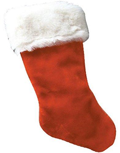 Plush Christmas Stocking White Trim