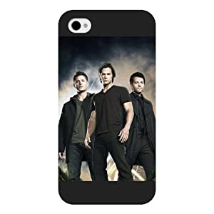 UniqueBox - Customized Black Frosted iPhone 5s Case, Supernatural iphone 5s case, Supernatural iphone 5s case