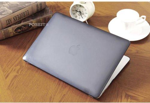 MacBook Air 33cm Fall, Hohe Qualität Crystal Hard Case Hard Schutzhülle mit Tastatur Skin Cover + Staub Stöpsel + Displayschutzfolie für MacBook Air 33cm Zoll Modell A1369und A1466 Crystal Gray