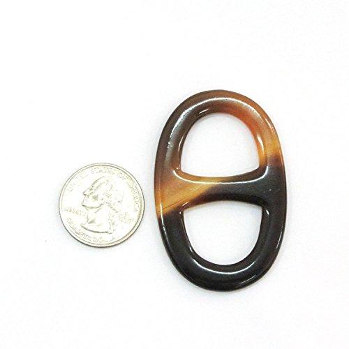 Marycrafts-Size-5-Buffalo-Horn-Scarf-Ring-Scarf-Clip-Scarf-Slides-Handmade-57×37-Cm