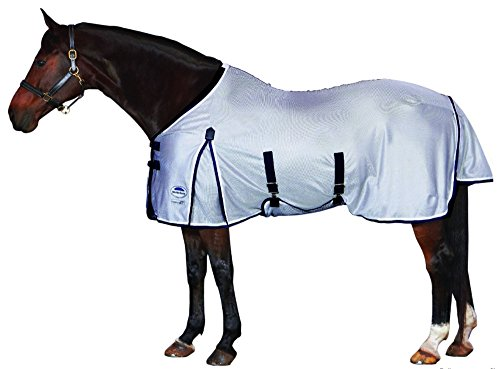 WeatherBeeta Airflow Standard Neck Fly Sheet - Size:75 Color:Silver/Navy/White ()