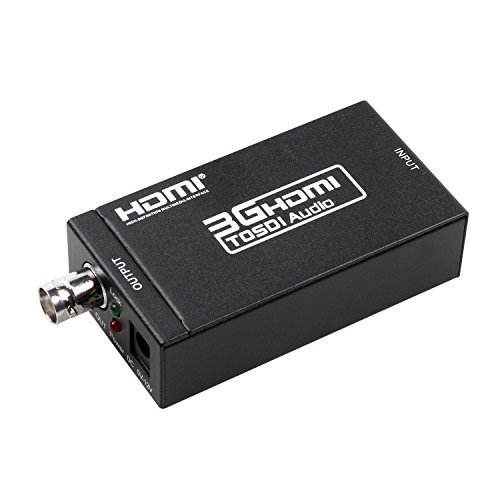 3G Converter HDMI to SDI Meita Mini Video Adapter hdmi sdi BNC SDI/HD-SDI/3G-SDI Adapter Support 1080P for Camera Home Theater Cinema PC HD by Meita