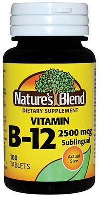 Nature`s Blend Vitamin B-12 2500mcg Tablets 100 ct