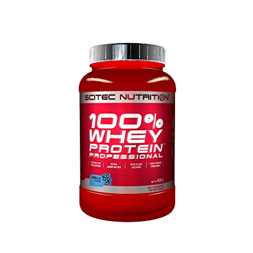 Scitec Nutrition 100% Whey Protein Professional with extra amino acids and digestive enzymes, gluten free, 920 g…