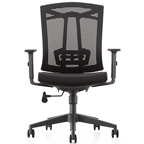 CMO Ergonomic Mesh High-Back Computer Office Chair with Padded Adjustable Arms and Suit Hangers