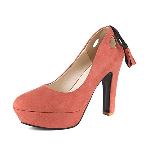 Fashion HeelPump Shoes - Sandalias con cuña mujer Rosa
