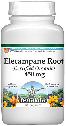 Elecampane Root (Certified Organic) - 450 mg (100 capsules, ZIN: 517660)