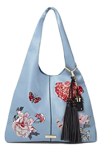 Floral Embroidered River Slouch Blue Ladies Oversized Bag Island qwBxBtaF