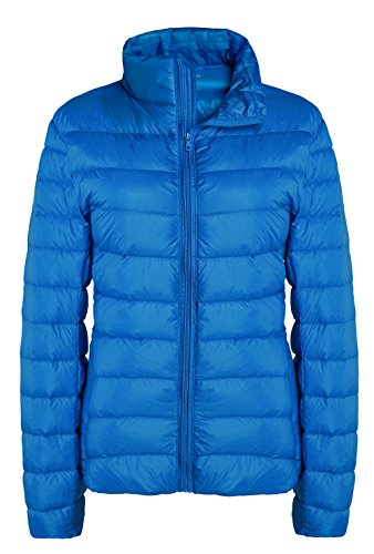 (ZSHOW Women's Outwear Down Coat Lightweight Packable Pillow Down Jackets, US X-Large, Acid Blue)