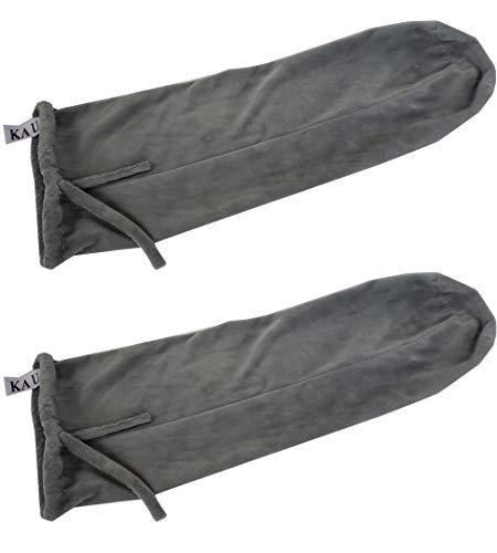 Ka Ua Cervical Neck Roll Bolster Pillow Case Set of 2- Plush Velour 4