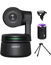 OBSBOT Tiny AI-Powered PTZ Webcam, AI Tracking W Auto-Frame AI Auto-Exposure Gesture Control Audio Support Software Support Windows and MacOS for Video Chat Online Meeting Online Class Live Streaming
