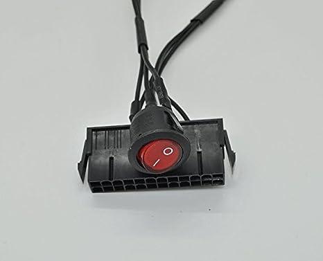 24 Pin Female ATX PSU Power Supply Up Jumper ON OFF Switch Starter Tester Start