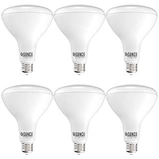Sunco Lighting 6 Pack BR40 LED Bulb, 17W=100W, Dimmable, 3000K Warm White, 1400 LM, E26 Base, Indoor Flood Light for Cans - UL & Energy Star