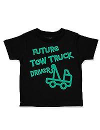 Custom Toddler T-Shirt Future Tow Truck Driver Cotton Boy & Girl Clothes