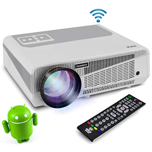Full HD 1080p Hi-Res Mini Portable Smart Video Cinema Home Theater Projector - Built-In Dual Core Android Computer, WiFi Wireless Multimedia, LCD+LED, HDMI & USB Inputs for Blu Ray PC -
