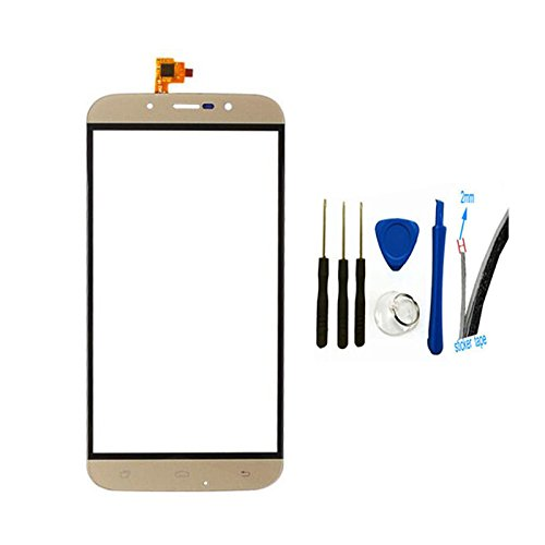 Digitizer touch screen Glass Panel cover Replacement For UMI Rome X (gold)