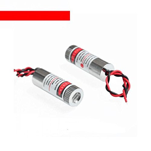TL-ANALOG 5pcs New 650nm 5mW Red Laser Line Module Glass Lens Focusable Laser ()